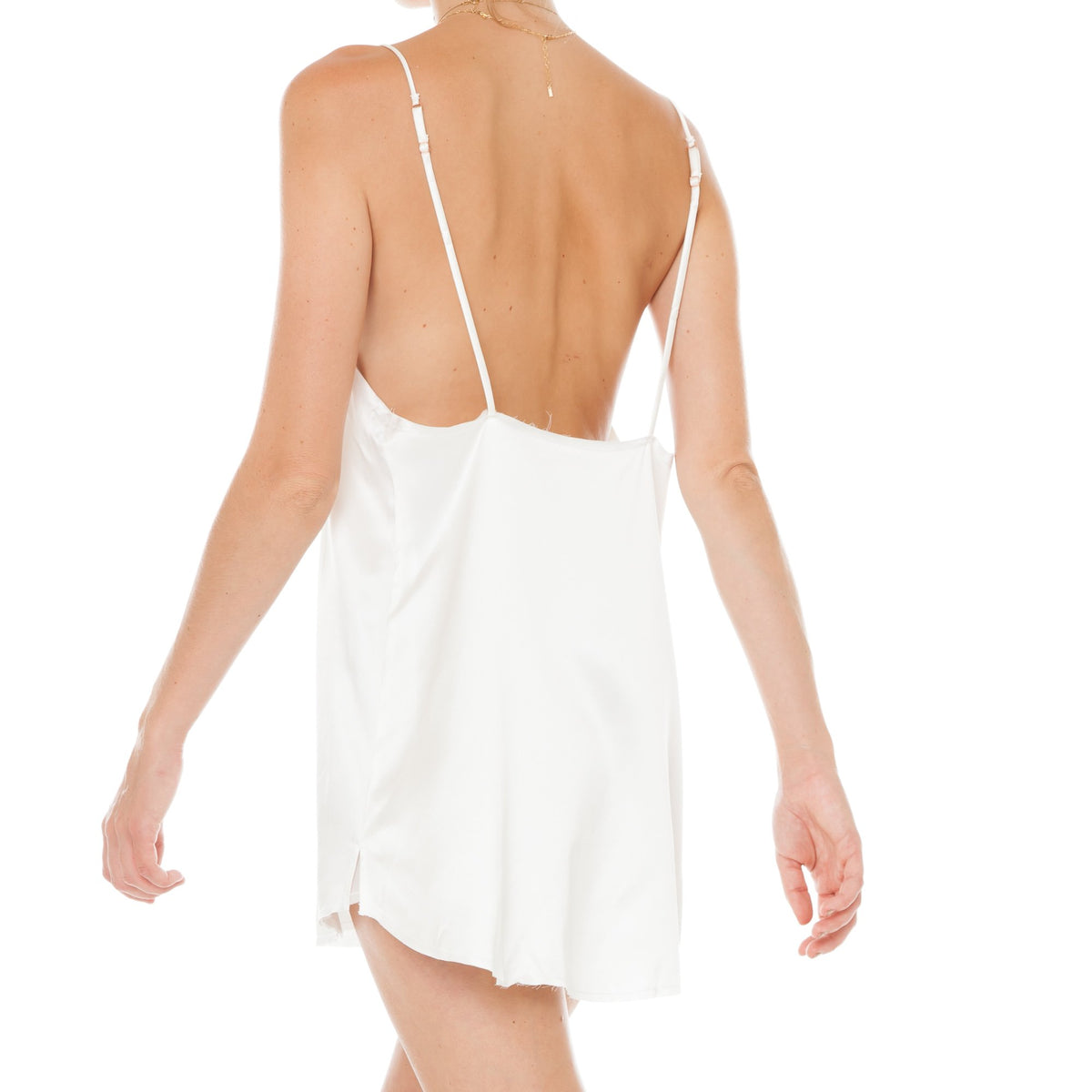 Are You Am I - Zillah Slip Dress **white