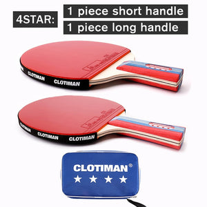 Tennis table racket wood plus carbon fiber offensive long handle short handle horizontal grip pingpong racquet blade with rubber