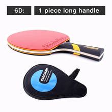 Load image into Gallery viewer, Tennis table racket wood plus carbon fiber offensive long handle short handle horizontal grip pingpong racquet blade with rubber