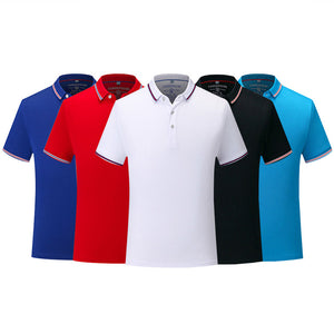Tennis Top Polo Shirt Men 's Business Casual Solid Polo Summer Quick Dry Polos Short Sleeve Solid Shirt