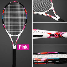 Load image into Gallery viewer, Professional Carbon Tennis Rackets Strings Bags 102SqIn Training Racquet Adult Tenis Racket 50-59LBS Padel Sports