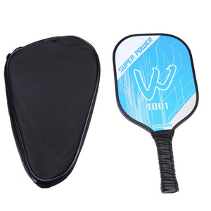 Carbon Fiber Pickleball Paddle Graphite Face Polymer Honeycomb Core Pickleball Racket Ultra Cushion Grip Low Profile Edge Guard