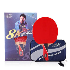 Genuine Double Fish 8A Table Tennis Bat Ping Pong  Legend  Racket with case racquet sports carbon blade fast attack loop