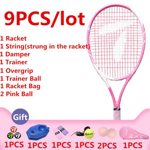 Teloon Super Light Tennis Racket for Lady Beginner Women Integral Forming Broken Wind Frame Professional tenis Racquet K021SPA