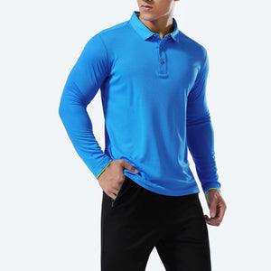 Women Men's Sport Badminton Shirt Long Sleeve Breathable Running Shirt Tennis Shirts Gym Fitness Top Male Training Polo T Shirts
