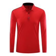 Load image into Gallery viewer, Women Men's Sport Badminton Shirt Long Sleeve Breathable Running Shirt Tennis Shirts Gym Fitness Top Male Training Polo T Shirts