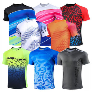 Tennis shirts Female Male , Girl Table Tennis Kit uniforms , Polyester Badminton T Shirt , PingPong Clothes Team Game Jerseys