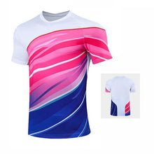 Load image into Gallery viewer, Tennis shirts Female Male , Girl Table Tennis Kit uniforms , Polyester Badminton T Shirt , PingPong Clothes Team Game Jerseys