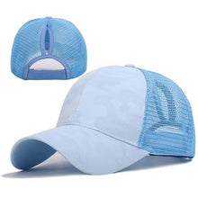 Load image into Gallery viewer, 2019 Ponytail Tennis Cap Women Girl Adjustable Breathable Summer Solid Snapback Cotton Hats Casual Sport Caps