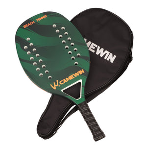 CAMEWIN Casual Beach Tennis Racket (Carbon +Glass Fiber Frame) Paddle Tennis Racquet with Bag Cover