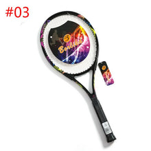 Load image into Gallery viewer, Proffisional Carbon Aluminum Alloy Tennis Racket Raqueta Pickleball Paddlet Racchetta Tennisracket Tennis Racquet with String