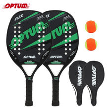 Load image into Gallery viewer, Beach tennis Racquet set OPTUM FLEX Beach Tennis Racket/Tennis Paddle Set,2 Paddles,2 Balls,and 2 Cover Bags.