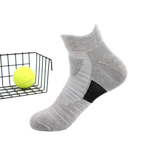 1 Pair Men Thermal Sports Socks for Outdoor Cycling Basketball Running Winter Hiking Basket Tennis Non-slip Sports Cotton Socks