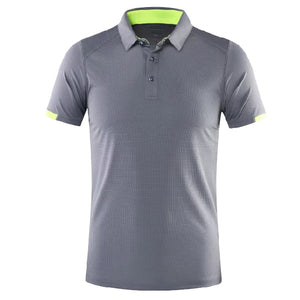 Men Polo Tennis shirts short sleeved Badminton shirt for outdoor Soccer Running t-shirt Sportswear quick dry Sport clothes Kit