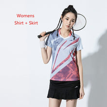 Load image into Gallery viewer, New Badminton shirts Men Women Sport shirt Tennis shirts Shorts Skirt table tennis tshirt dry Fit tennis jersey Running clothes