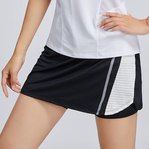 New 2 In 1 Skirt Short Sport Female Tennis Skirt Breathable Fitness Badminton Shorts Quick Dry Running Gym Women Sport Skirts