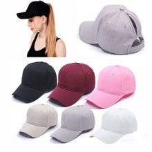Load image into Gallery viewer, 2019 Ponytail Tennis Cap Women Girl Adjustable Solid Snapback Cotton comfort Summer Hats Casual Sport Caps Drop Shipping New