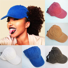 Load image into Gallery viewer, New Glitter Ponytail Baseball Caps Sequins Shining High Quality Fashion Womens Messy Sun Adjustable Snapback Hip Hop Hat Tennis