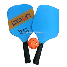 Load image into Gallery viewer, beach tennis set Pickleball Paddle Set Includes Two Square Wood Paddles With One Pickleball