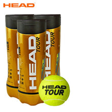 Load image into Gallery viewer, Professional HEAD Tennis Balls Competition Training Tennis Balls High Elastic Resistance HEAD TOUR Tennis Ball 3 Pcs For 1 Tank