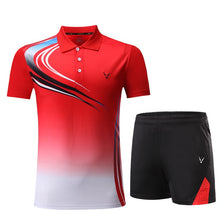 Load image into Gallery viewer, New Tennis suit Badminton shirt Tennis set Women sports clothes /Men table tennis clothes/set badminton wear sets fo couple2020