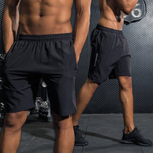 Load image into Gallery viewer, Shorts Men Running Quick Dry Workout Bodybuilding Gym Spandex Shorts Sports Jogging 2018 Pocket Tennis Training Shorts