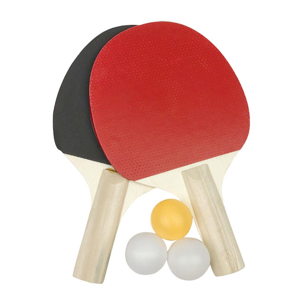 Wood Ping-Pong Racket Racquet Pingpong Durable Ping Pong Bat Athletics Colour Portable Sports Table Tennis Bat Practical