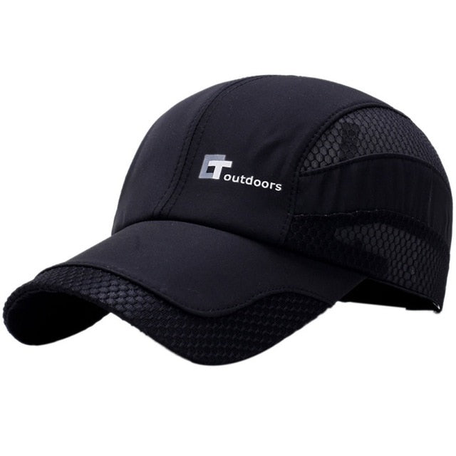 Mesh Cap Men Women Letter Embroidery Cotton Polyester Sun Shade Quick Dry Anti-UV Adjustable Hats Outdoor Running