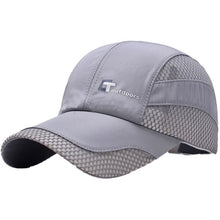 Load image into Gallery viewer, Mesh Cap Men Women Letter Embroidery Cotton Polyester Sun Shade Quick Dry Anti-UV Adjustable Hats Outdoor Running