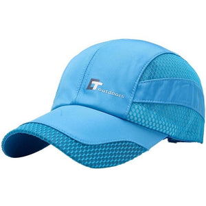 Hot Mesh Elegent Cap Men Women Letter Embroidery Cotton Polyester Sun Shade Quick Dry Anti-UV Adjustable Hats Outdoor Running