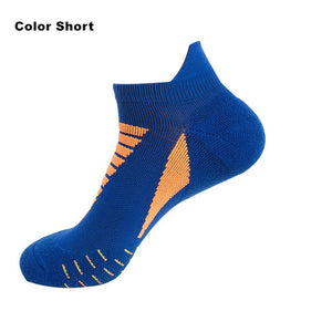 Professional Running Socks Cotton Thick Terry Socks Summer Basketball Tennis Men Sports Socks Shock Absorption Moisture Wicking