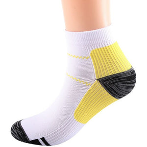 1 Pair Breathable Foot Compression Socks For Plantar Fasciitis Heel Spurs Arch Pain Comfortable Socks Running Tennis Sports Sock