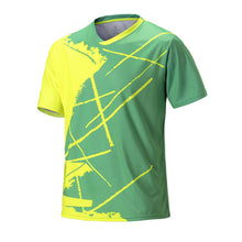 Load image into Gallery viewer, Men Short Sleeve Tennis Shirts O-neck Fitness Running T Shirts Sport Golf Badminton Tees Shirt Tops Training Table Tennis Tshirt