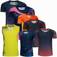 Load image into Gallery viewer, Sports Brand Quick Dry Breathable Badminton Shirt,Women Men Table Tennis volleyball Team Running Exercise Training T Shirts