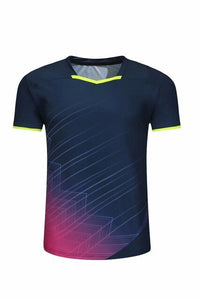 Sports Brand Quick Dry Breathable Badminton Shirt,Women Men Table Tennis volleyball Team Running Exercise Training T Shirts
