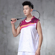 Load image into Gallery viewer, New badminton suit men's and women's tennis sleeveless sports shirt quick drying sleeveless top table tennis suit quick drying