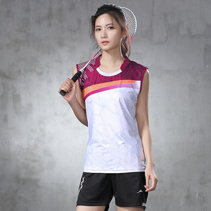 New badminton suit men's and women's tennis sleeveless sports shirt quick drying sleeveless top table tennis suit quick drying