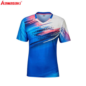 2020 Kawasaki  Breathable Badminton T-Shirt Men Quick Dry Short-Sleeve Training Tennis Shirts For Male Sportswear ST-R1210