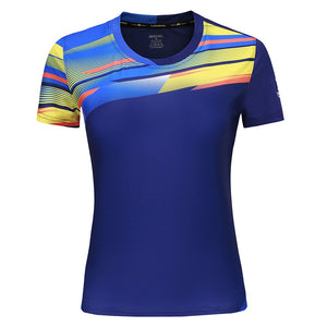 The New Women Golf Shirts Sports t-shirt tops tees Breathable Clothing Badminton Men's T-shirt Table Tennis Clothes Shirt