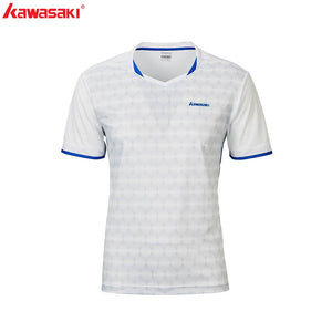 Kawasaki Badminton T-Shirt Men Female Tennis Shirt Quick Dry Short-Sleeve Training  Breathable Shirts For Male ST-R1222
