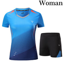 Load image into Gallery viewer, New Tennis suit Women/Men , Qucik dry Badminton sports clothes,table tennis jerseys shorts badminton clothing ladies sportswear