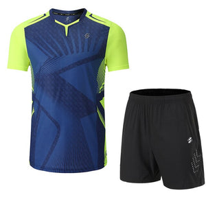 Quick Dry Badminton Sets Clothes ,table tennis clothes , pingpong sets,table tennis shirts + shorts clothes ,Running Sportswear