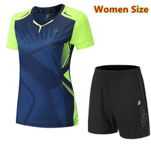 Load image into Gallery viewer, Quick Dry Badminton Sets Clothes ,table tennis clothes , pingpong sets,table tennis shirts + shorts clothes ,Running Sportswear
