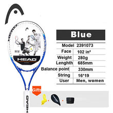 Load image into Gallery viewer, Beginner Head Tennis Racket Professional Tennis Racquet Carbon Tenis Padel String Bag Overgrip Dampener Raquete De Tenis Paqueta