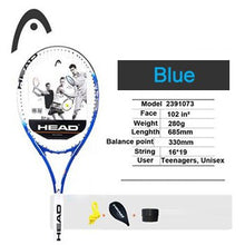 Load image into Gallery viewer, Head Tennis Racket Professional Padel Racquet Technical Carbon Aluminum Alloy Raqueta Tenis With String Original Bag Case