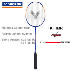 VICTOR original 4U 5U High-tension Badminton Racquet TK-HMR Badminton Racket 100% carbon Thruster hammer