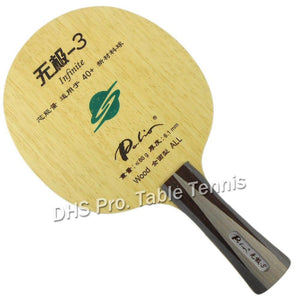 Palio official Infinite-3 infinite03 table tennis blade special for 40+ racquet game pure wood for loop with fast attack