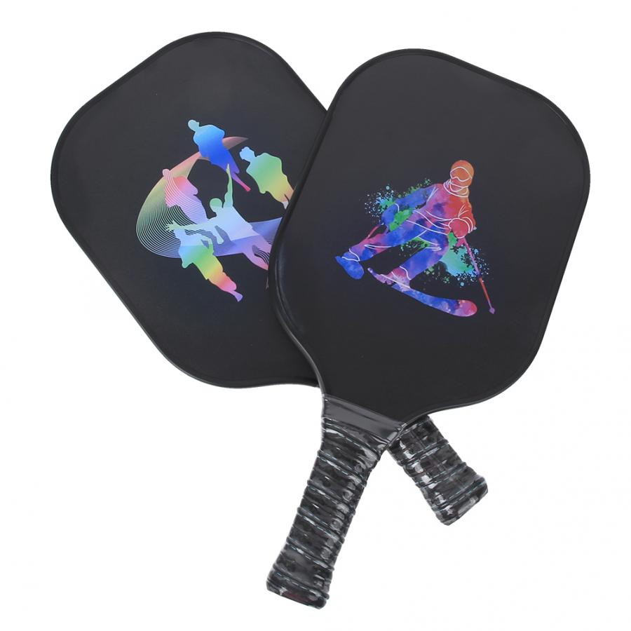 Pickleball Paddle 2Pcs Portable Carbon Fiber Pickleball Paddle Ball Game Training Sport Equipment Tennis Accessories