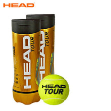 Load image into Gallery viewer, Original HEAD Tennis Balls Competition Training Tennis Balls Elastic Resistance HEAD TOUR Tennis Ball 3 Pcs For 1 Tank Tenis