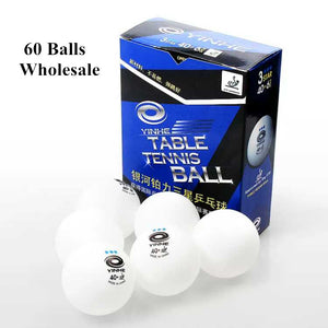 60balls wholesale YINHE New Material Plastic 40+mm ITTF Approved 3-Star Table Tennis Balls Ping Pong Balls Seamless